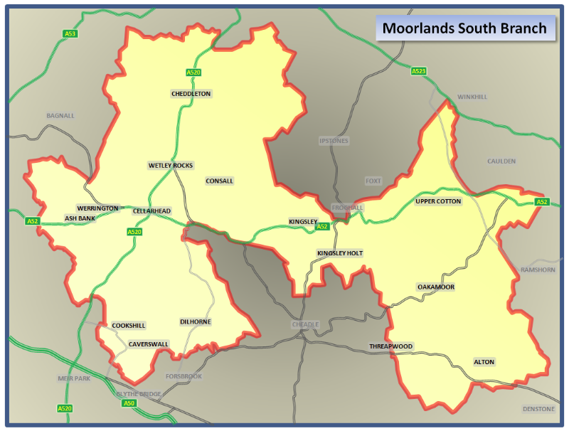 Moorlands South Map